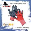 13G U3 strickender Palmen-schwarzes Nitril-glatter überzogener Handschuh