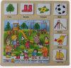 Brinquedos de madeira do enigma de madeira educacional (34772)