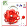 Saco de plástico bonito e encantador do metal da flor com gancho