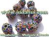 Прокладки металла баскетбола радуги шарика круглые с чехословакскими заключениями Rhinestone 10mm