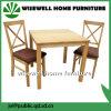 Muebles de comedor de madera con 2 sillas (W-DF-9032)