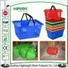 Panier en plastique de traitement de panier à provisions de panier de supermarché