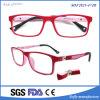 Kids 'Rectange Myopia Eyeglasses Cadre optique avec temple en caoutchouc