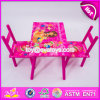 새로운 디자인 홈/학교/분홍색 나무로 되는 소녀 테이블 및 의자 W08g197