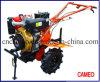 Cp1350A 9.3HP 6.83kw Cultivateur à moteur diesel Cultivateur à petite distance Cultivateur à pied Cultivateur refroidi par air Cultivateur diesel