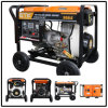 5kw Diesel Generator Set mit Prompt Sale Sevice (Big Wheels)