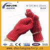 Грейте связанные перчатки безопасности хлопка работая