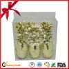 Fita Ruffled do Natal ouro decorativo por atacado para o presente