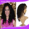 Peruca cheia do laço da onda profunda brasileira do cabelo de Remy do Virgin