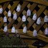 10 luci leggiadramente solari esterne della stringa del LED