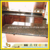 Bancada Prefab do granito de Tan Brown com Backsplash