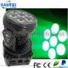 Tête mobile du lavage LED de l'éclairage 7*10W RGBW d'étape