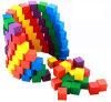 多彩な木の立方体/ブロック