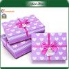 Caja de la Navidad púrpura del papel del regalo de la promoción del diseño del OEM