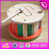 Madera creativa Marching Drum, madera musical tambor de juguete para Preescolar, Educación Juguete de madera del instrumento musical del grupo de percusión W07j036