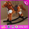 Cavalo de balanço 2015 de madeira novo, brinquedo de madeira do cavalo de balanço dos miúdos, cavalo de balanço de madeira barato W16D065