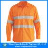 OEM Overhemd van de Polyester van de Veiligheid van Mensen het Openlucht Oranje Weerspiegelende