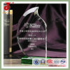 Base verde Blank Crystal Glass Award Trophy para Names Engraving
