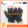 Перчатки 2017 полиэфира хлопка Ddsafety с многоточиями PVC половинной черноты перста миниыми