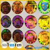 Rainbow Reflective Security Holographic Stickers con Silkscreen Printing