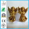 金Polyresinの天使の置物のPolyresinのクラフトのホーム装飾