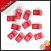Etiqueta tecida da dobra Center da etiqueta do tamanho de China Centerfold por atacado