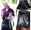 Ladies Sexy PU Leather Skirts를 위한 높은 Waist Tassel Custom Fit