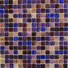 組合せColor Glass Mosaic TileブラウンおよびBlue (MC207)