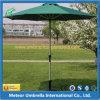 Guarda-chuva ao ar livre da praia redonda lateral da coluna