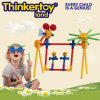 Brinquedo plástico educacional do balanço do jardim do enigma do jogo