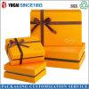 Коробка коробки подарка дня Valentine золотистая бумажная