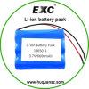bloco da bateria de 3.7V 6600mAh 18650, bateria de íon de lítio