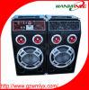 Sale caldo Stage Sound Box 2.0 Active Audio Speaker Professional Speaker con la deviazione standard FM Aux Remote Mic Input del USB di Marquee Lamp