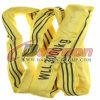 Tonne de 3 tonnes élingue jaune ronde de calage de polyester d'élingue de levage de 3 mètres
