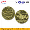 3D Helicopter Antique Bronze Metal Challenge Coin (Series 1)