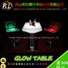Table basse rougeoyante en plastique de meubles d'éclairage LED