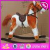 O cavalo de balanço de madeira do contrapeso, cavalo de balanço de madeira popular, caçoou o brinquedo de madeira do cavalo de balanço, cavalo de balanço de madeira barato W16D069