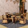 식당 Teatable는 등나무 가정 가구를 놓는다
