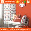 Le papier décoratif 3D fleurit des papiers peints de revêtement de mur