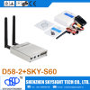 D58-2 5.8GHz 32CH Wireless sistema de pesos americano Fpv Diversity Receiver + Sky-N500 500MW 32CH a/V Transmitter Compatible con Fpv Quadcopter