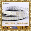 2835 luz de tira constante do diodo emissor de luz da tensão de SMD 168LEDs/M