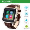 Relógio esperto Android com o telefone de pilha do relógio