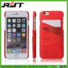 Caja del teléfono móvil del cuero de grano del cocodrilo de la protección del teléfono celular (RJT-A045)