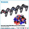 PS4コントローラのためのアナログの棒のシリコーンのグリップの帽子ボタンカバー
