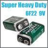 bateria seca de 9V 6f22 para o mercado americano europeu e do norte