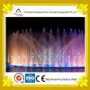 Fontana di acqua rotonda colorata di musica della fontana del lago