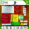 Jogo de etiquetas de advertência solar para o sistema Photovoltaic do picovolt