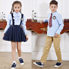 女の子のよい開始のユニフォームの学生服の服のための学生服デザイン