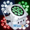 12X15W 5 em 1 luz da PARIDADE do diodo emissor de luz da bateria/Wifree lisos sem fio Magicube F12
