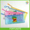 Chiusura lampo stabilita del supporto del sacchetto del PVC della maglia della penna della cancelleria di plastica della matita